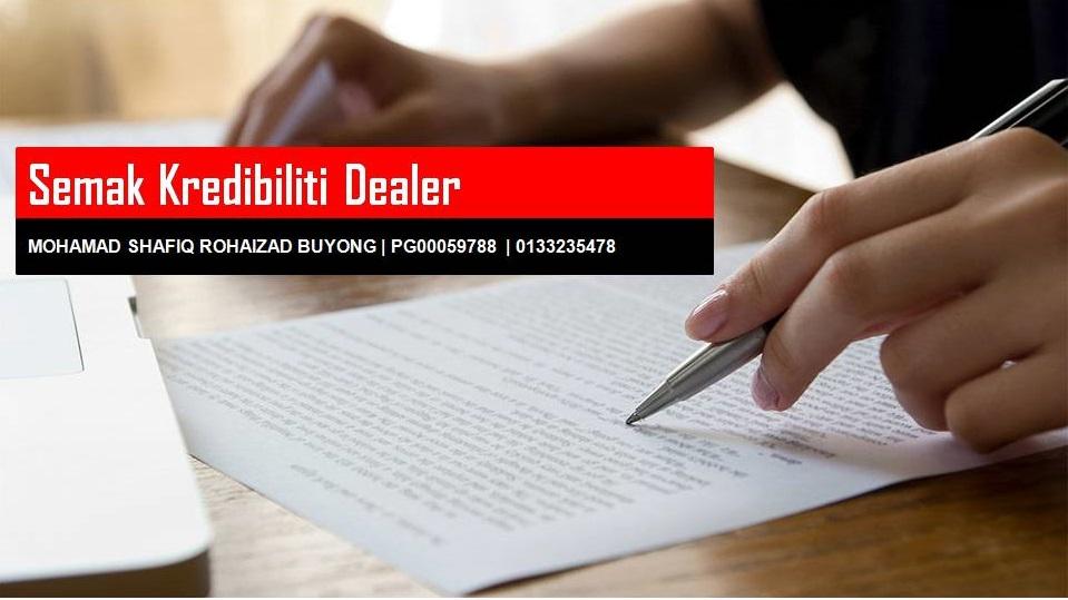 Semak Kredibiliti Dealer