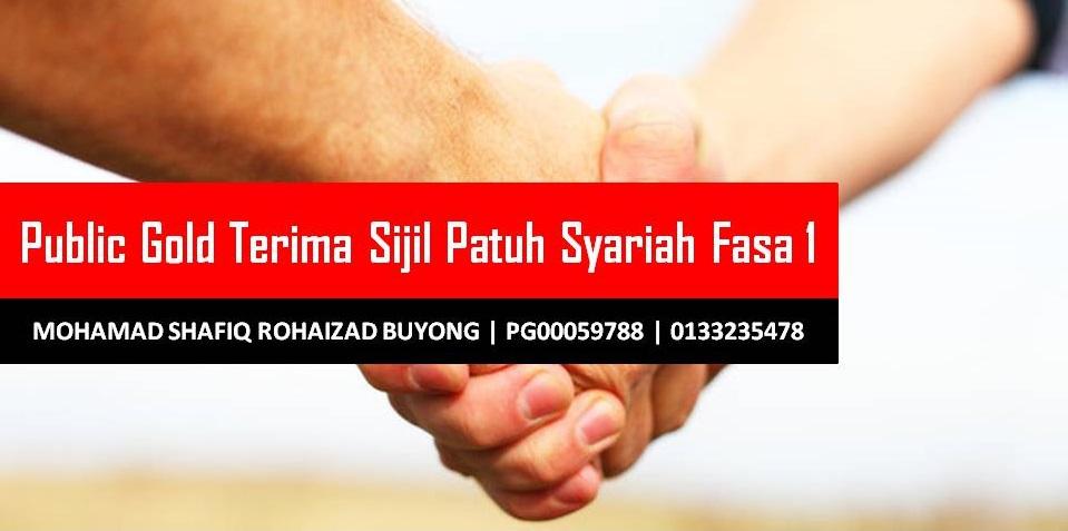Public Gold Terima Sijil Patuh Syariah Fasa 1